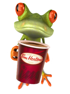 frog-with-timhortonscup